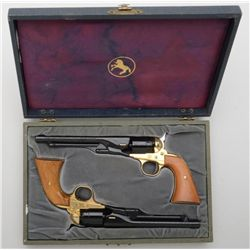 Colt Civil War Centennial pair of single shot  pistols in the style of a diminutive Model  1860 Army