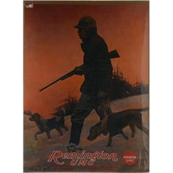 Lot of 6 large color Remington advertisers  including a Remington UMC  poster with  hunting dog flus