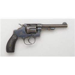 "Smith & Wesson hand ejector DA revolver, .32  long cal., 4-1/4"" barrel, blue finish,  checkered blac"