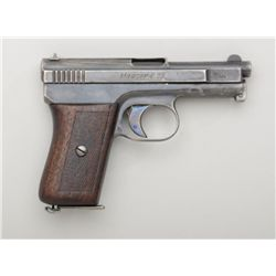 "Mauser Pocket Model semi-auto pistol, 6.35mm  cal., 3"" barrel, blue finish, checkered wood  grips, #"