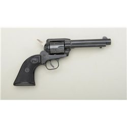 "German-made copy of a Colt SAA revolver,  .22LR cal., 4-3/4"" barrel, blue finish,  checkered black h"