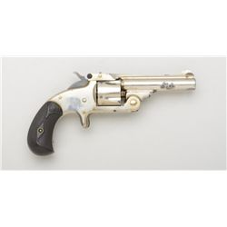 "Smith & Wesson .32 Single Action spur trigger  top break revolver, .32 cal., 3"" barrel,  nickel fini"