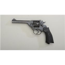 "Webley Mark IV DA British military and police  revolver, .38 cal., 5"" barrel, blue finish,    checke"