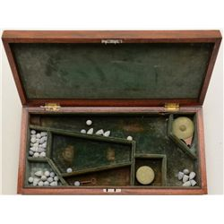 Nicely made modern green material-lined wood  presentation case for a Colt Model 1860 Army  percussi