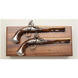 Modern U.S. Bicentennial Society copy of The  George Washington Flintlock Pistols, .54  cal., 8 bra