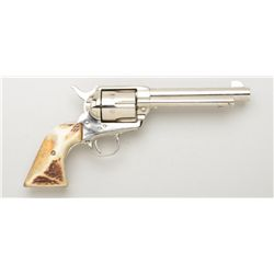 "Colt Third Generation SAA revolver, .44  Special cal., 5-1/2"" barrel, nickel finish,  stag grips, #S"