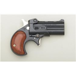 "Davis Industries O/U Model DM-22 derringer,  .22 Mag. cal., 2-1/4"" barrels, black finish,  wood grip"