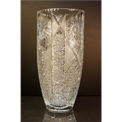 Clear Turkish Crystal Vase