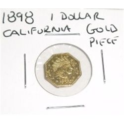 1898 1 Dollar California Gold Piece!!