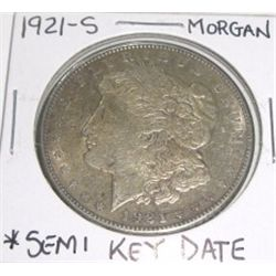 1921-S Morgan Silver Dollar *SEMI-KEY DATE NICE COIN*!!