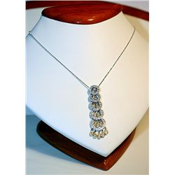 Ladies 14k White Gold Diamond Pendant