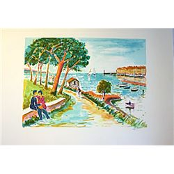 La Levandou - Signed Limited Edition Lithograph- Picot