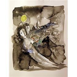 Original Watercolor Signed Chagall