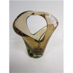 Art glass free form basket