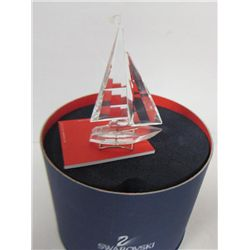 Swarovski crystal sail boat #A7473