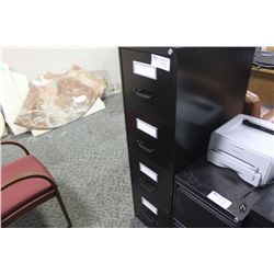BLACK 4 DRW. VERTICAL FILE CABINET