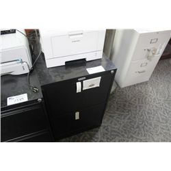 BLACK 2 DRW. VERTICAL FILE CABINET