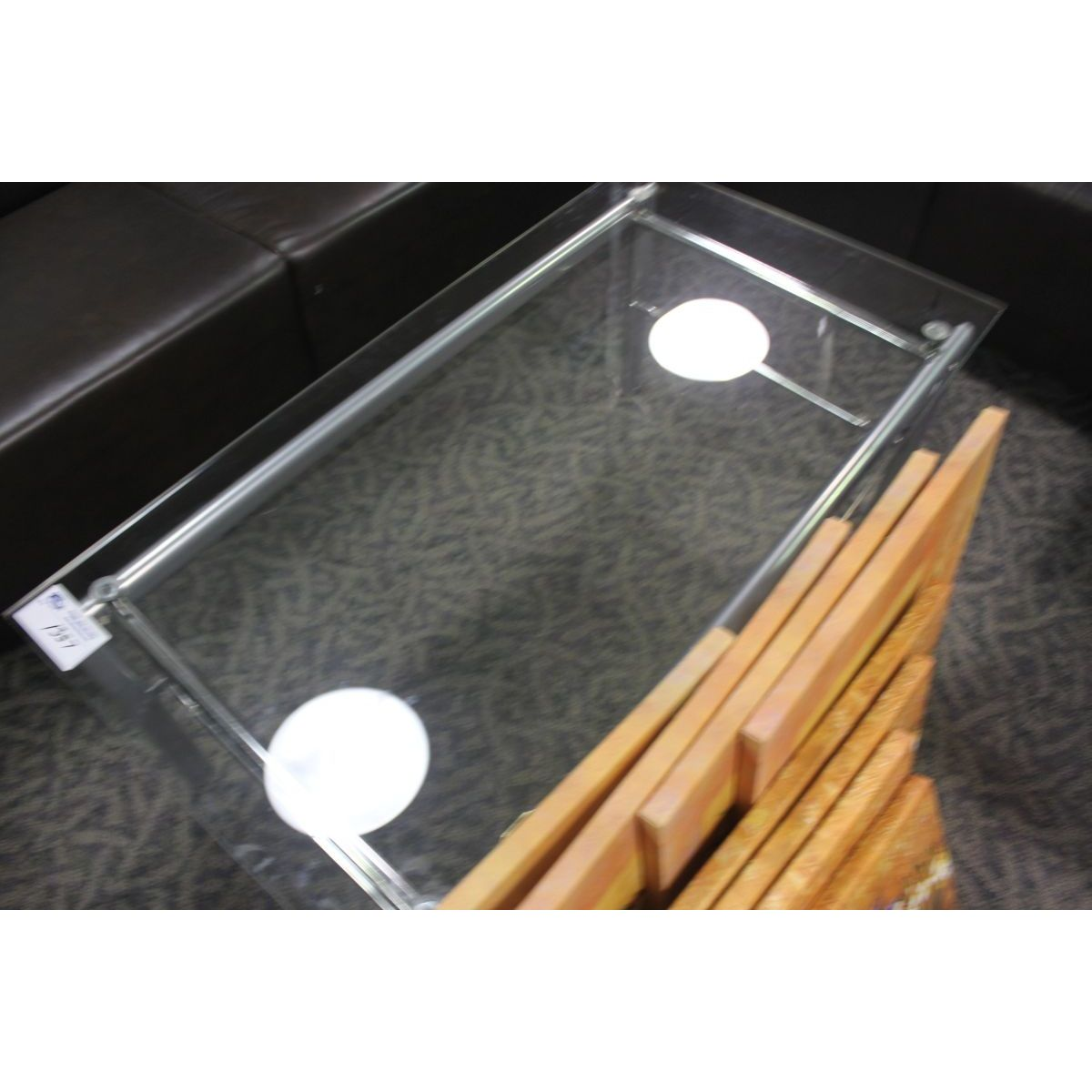 Glass coffee and end tables able auctions Glass coffee and end tables
