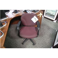 GLOBAL BURGUNDY MID TILTER CHAIR