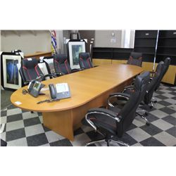 12' TOWNSHIP MAPLE BOARDROOM TABLE