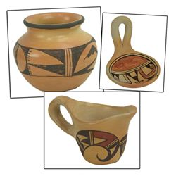 3 Hopi Pottery Pieces