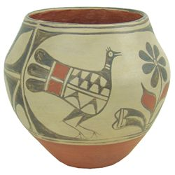 Santo Domingo Pottery Jar - Robert Tenorio