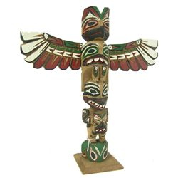 Northwest Coast Model Totem Pole - Barb Williams