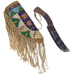 Sioux Beaded Knife & Sheath