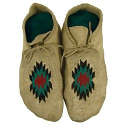 Plateau Beaded Moccasins