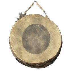 Painted Hide Drum