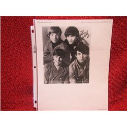 Mickey Dolenz signed Monkeys Band