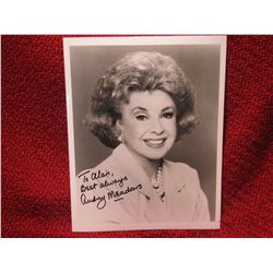 Audrey Meadows signed Honeymooners