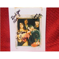 Denny Doherty signed Mamas and the Papas