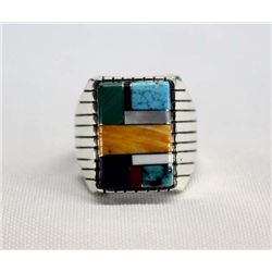 Navajo Sterling Multi Stone Ring - Ray Jack