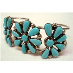 Navajo Sterling Silver Turquoise Bracelet