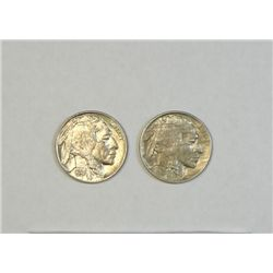 1920 AU and 1937 Buffalo nickels