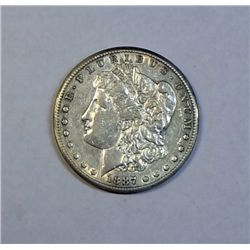 1887S Morgan $ XF/AU