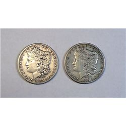 1885S and 1899S Morgan $'s  VF
