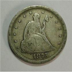 1875-S 20 CENT F-VF ORIGINAL