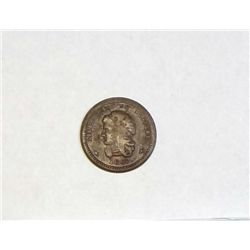 1863 Liberty and no slavery Civil War token   VF