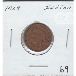 1909 LAST YEAR OF ISSUE INDIAN HEAD CENT