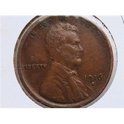 1916-S Lincoln Cent XF40