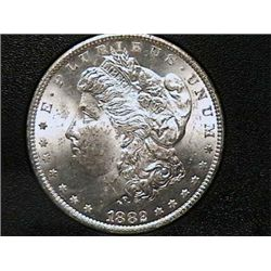 1882-CC Morgan Dollar MS62 GSA Holder