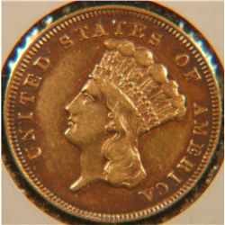 RARE DATE 1878 $3 GOLD INDIAN PRINCESS, PCGS