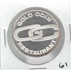 GOLD COIN RESTAURANT SILVER PROOF TOKEN