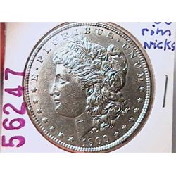 1900 Morgan Dollar AU55