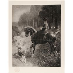 Woman on Horse, Photogravure