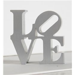 Robert Indiana, LOVE - Silver, Aluminum Sculpture