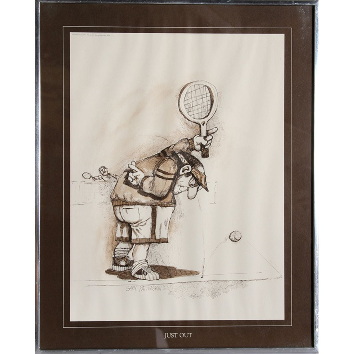 Gary Patterson Lot Of 4 Framed Tennis Posters