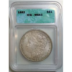 1882 MORGAN DOLLAR ICG MS-63
